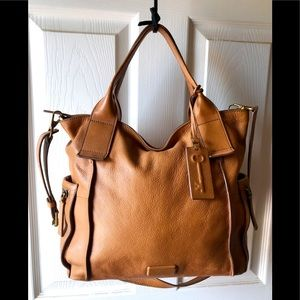Fossil Emerson Caramel Brown Large Satchel